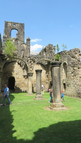 Visitors at Kirkstall Abbey