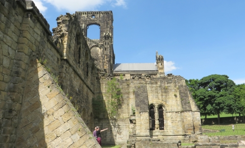 Tower, the south transept (I think), south aisle and buttress at Kirkstall Abbey