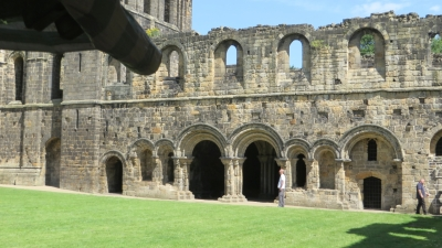 Arches in the cloister wall at Kirkstall Abbey