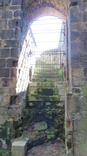 Sunshine down into one of the apses of the church at Kirkstall Abbey