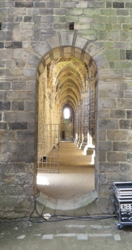 Archway onto the south aisle of the church at Kirkstall Abbey