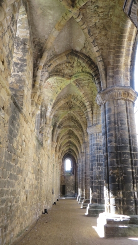 Vaulting in the south aisle of the church at Kirkstall Abbey