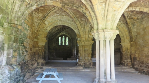 The crypt at Kirkstall Abbey