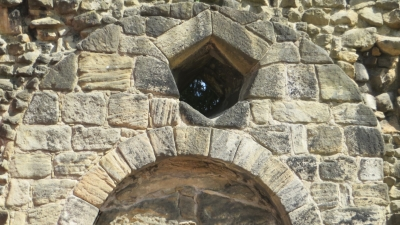 Pentagonal high-light at Kirkstall Abbey