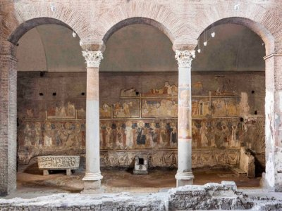 East wall of Santa Maria Antiqua, Rome