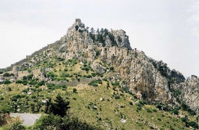 The Byzantine-built castle of Saint Hilarion, Girne, Northern Cyprus