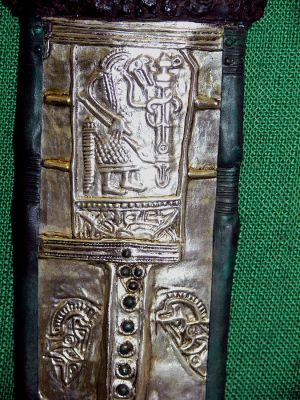 Detail from a replica of the seventh-century Alemannic scabbard from Gutenstein