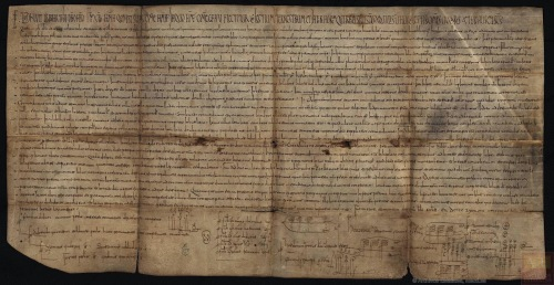 A marriage pact of 951 witnessed by the newly-succeded King Ordoño II in 951, Madrid, Archivo Historical Nacional, Carp. 1430 N.16