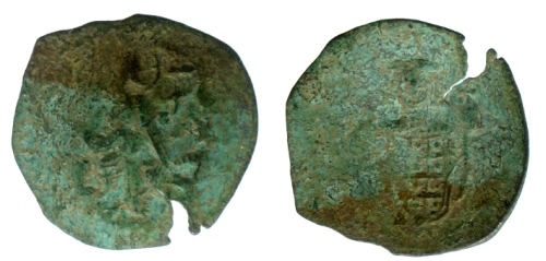 Billon aspron trachy of Emperor John III Ducas, otherwise known as John Vatatzes, struck at Thessalonica in 1249-1254, Barber Institute of Fine Arts BH0173