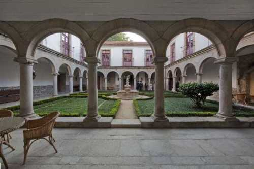 Interior view of the cloister at the Pousada Mosteiro de Guimaraes
