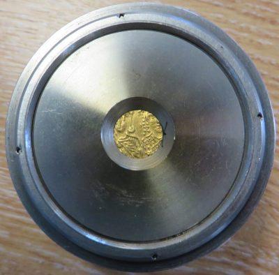 Gold solidus of Emperor Constantine VI and Empress Eirini struck at Constantinople 785-797, Barber Institute of Fine Arts B4599