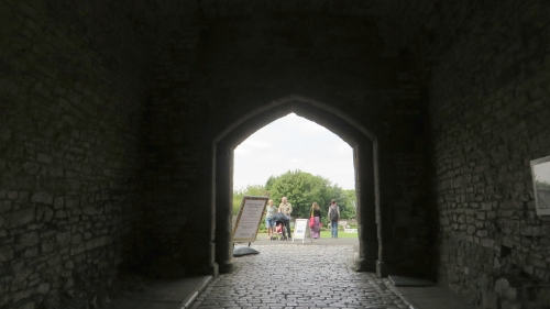 View through the barbican entrance of Dudley Castle