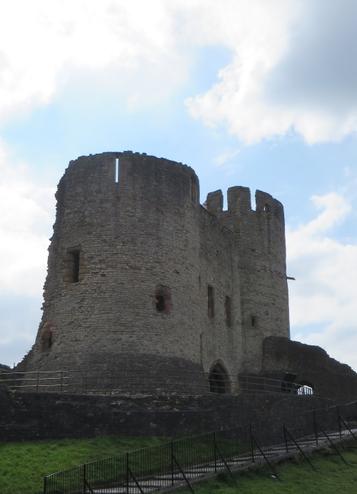 The inner face of the tower at Dudley Castle