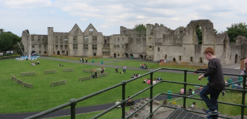 The bailey from the tower vewing platform at Dudley Castle