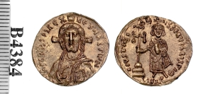 A gold solidus of Emperor Justinian II struck at Constantinople 685-695, Barber Institute of Fine Arts B4384