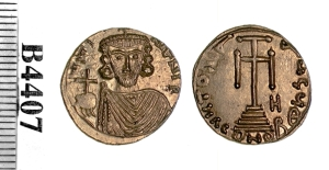A gold solidus of Emperor Justinian II struck at Syracuse in 685-695, Barber Institute of Fine Arts B4407