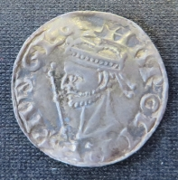 Obverse of a silver penny of King Harold II of England struck at Canterbury in 1066, SCBI 21 1105
