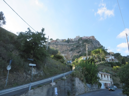 The road up out of Taormina to Castelmola