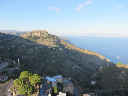 View from Castelmola, Taormina, Sicily, out to sea