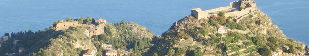 The supposedly-Muslim fortress of Castello di Montetauro, Taormina, Sicily