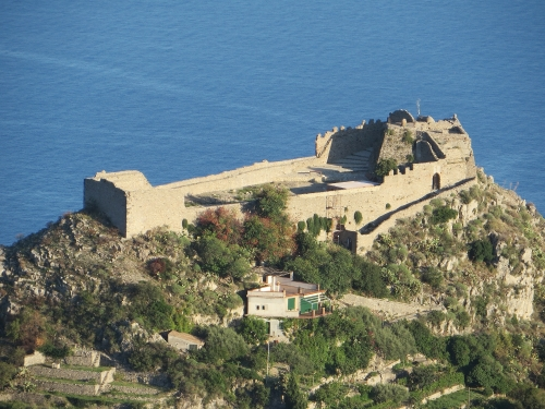 Castello di Monte Tauro, Taormina, Sicily, from above
