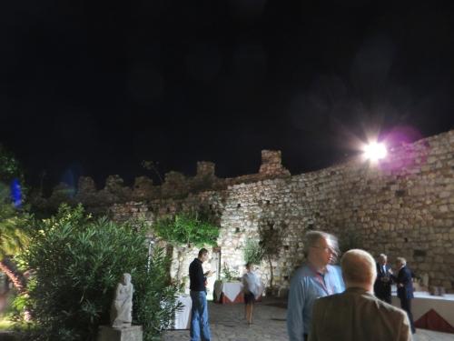 Party in the coutryard of the Palazzo dei Duchi di Santo Stefano, Taormina, Sicily