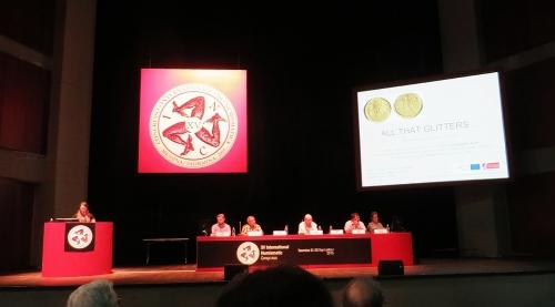 Rebecca Darley presenting at the XV International Congress, Taormina, Sicily