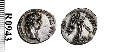 Silver denarius of Emperor Claudius I, struck at Rome in 41-42 AD, Barber Institute of Fine Arts R0943