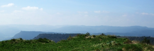 A view from the platform of the Castell de Gurb, Osona, Catalonia