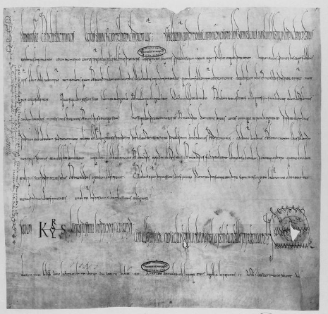 a diploma of Charles the Fat to Otbert, Provost of Langres, 15 January 887