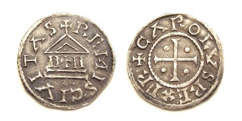 'Temple'-type denier of King Charles the Bald, struck at Reims 840-864