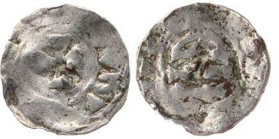 Silver transitional denier struck at Barcelona in 865-1018, Cambridge, Fitzwilliam Museum, CM.345-2001