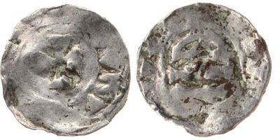 Silver transitional denier struck at Barcelona in 865-1018, Cambridge, Fitzwilliam Museum, CM.345-2001