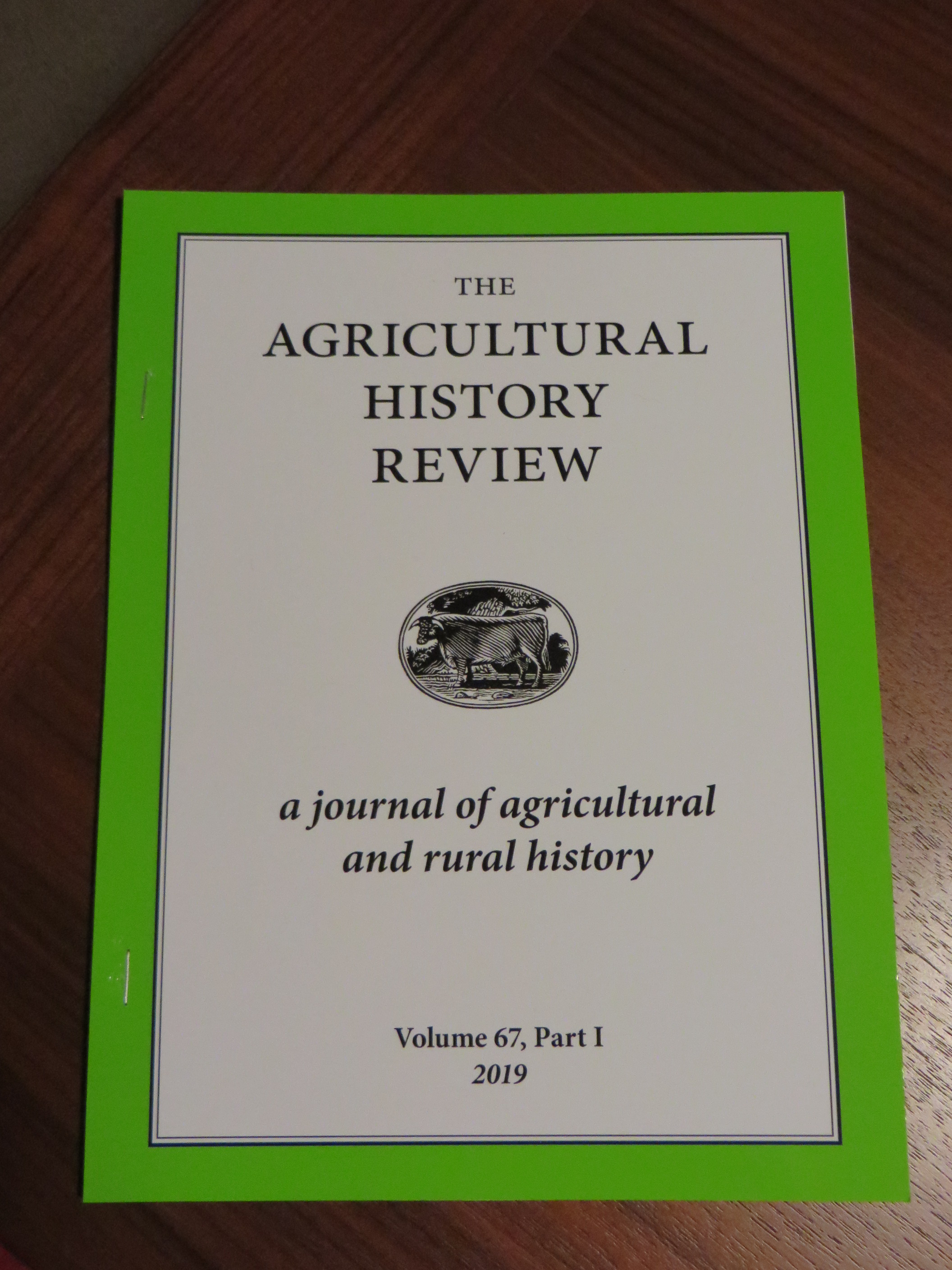 """Offprint of Jonathan Jarrett, """"Outgrowing the Dark Ages: agrarian productivity in Carolingian Europe re-evaluated"""" in Agricultural History Review Vol. 67 (Reading 2019), pp. 1-28"""
