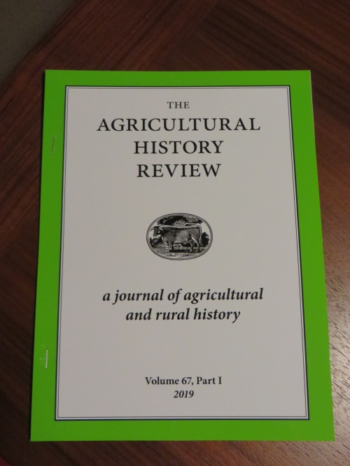 "Offprint of Jonathan Jarrett, ""Outgrowing the Dark Ages: agrarian productivity in Carolingian Europe re-evaluated"" in Agricultural History Review Vol. 67 (Reading 2019), pp. 1-28"