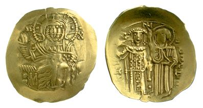 A gold hyperperon of Emperor John III Vatatzes of Nicaea struck at Nicaea in 1227-1254, Barber Institute of Fine Arts B6081