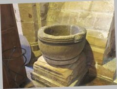 A possibly-Saxon font at All Saints Claverley