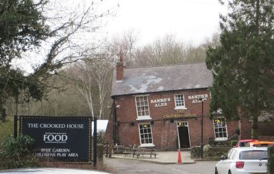 The Crooked House pub, Dudley, from outside