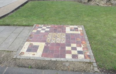 Medieval floor tiling at the Priory of St James, Dudley