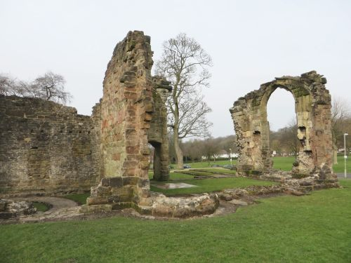 Ruins of the Lady Chapel at the Priory of St James, Dudley