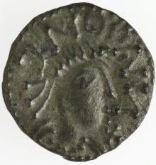 Obverse of an early English penny, Cambridge, Fitzwilliam Museum, De Wit Collection, CM.1815-2007