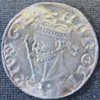 Obverse of a silver penny of King Harold II struck at Canterbury in 1066, University of Leeds, Brotherton Library, Winchester Collection, uncatalogued
