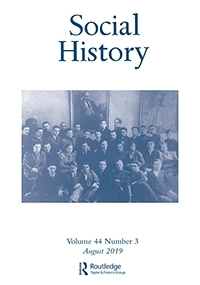 Cover of Social History Vol. 44 issues 3