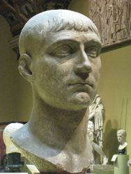 Copy of a bust of the Emperor Maxetius now in the Pushkin Museum, from Wikimedia Commons