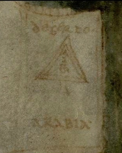 Detail of Albi mappamundi, Albi, Médiathèque Pierre Amalric, MS 29, fo. 57v