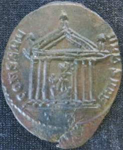 Reverse of billon nummus of Emperor Maxentius struck at Pavia in 307-308, Leeds, Brotherton Library, Thackray Collection, CC/TH/ROM/IMP/916