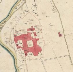 Map of the estate of Sant Miquel de Cuixà in 1812