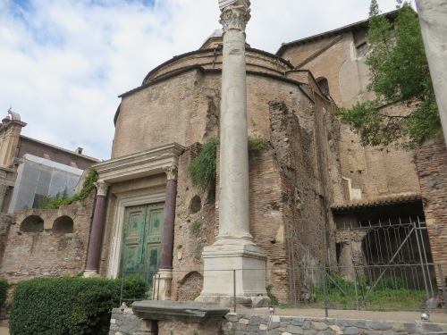 The Temple of Romulus, in the Roman Forum
