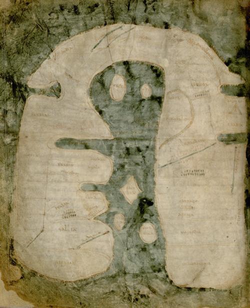 The Albi Mappa Mundi, Albi, Médiathèque Pierre Amalric, MS 29, fo. 57v