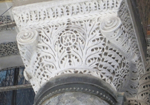 A monogrammed carved capital in the Ayasofya Musezi, Istanbul